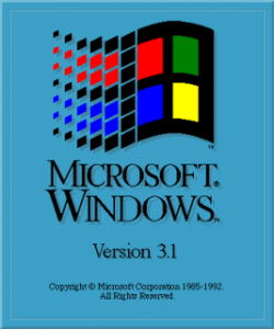 История развития Windows 3.1