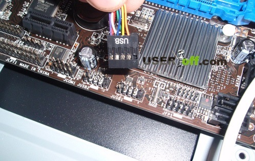 Кабель USB в материнской плате