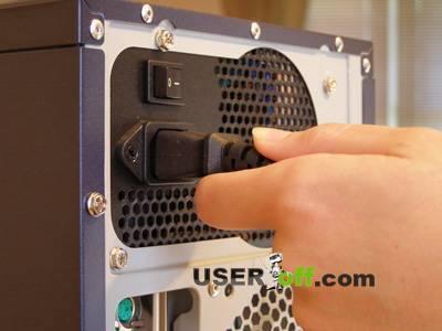 Проверьте кабель питания в системном блоке