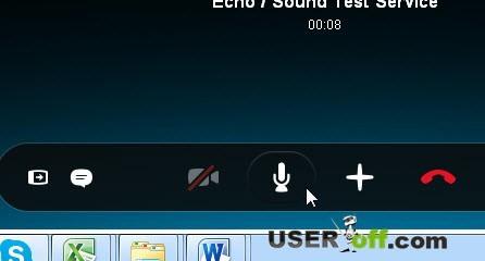 Кнопка включения и отключения микрофона в Skype