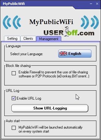 MyPublicWifi - Management