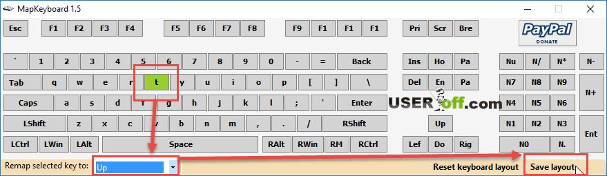 Главное окно программы для переназначения клавиш