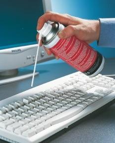 Баллон со сжатым воздух - эффективное средство с грязью для ноутбука и компьютера