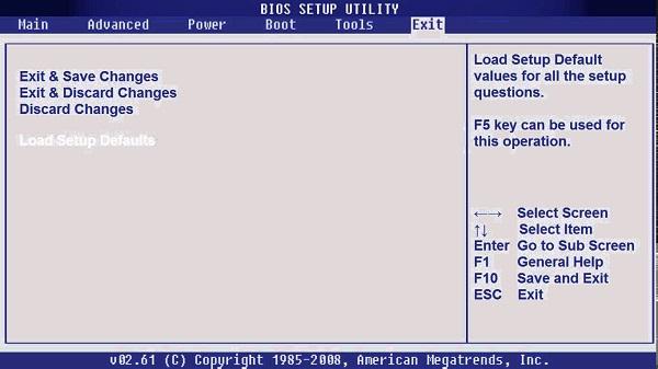 Как в BIOS сбросить настройки по умолчанию