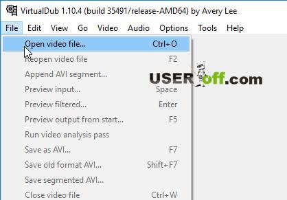 """Выберете """"File""""-""""Open video file"""", чтобы открыть видео"""